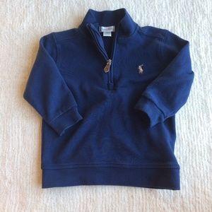 Ralph Lauren baby boy half zip sweatshirt blue